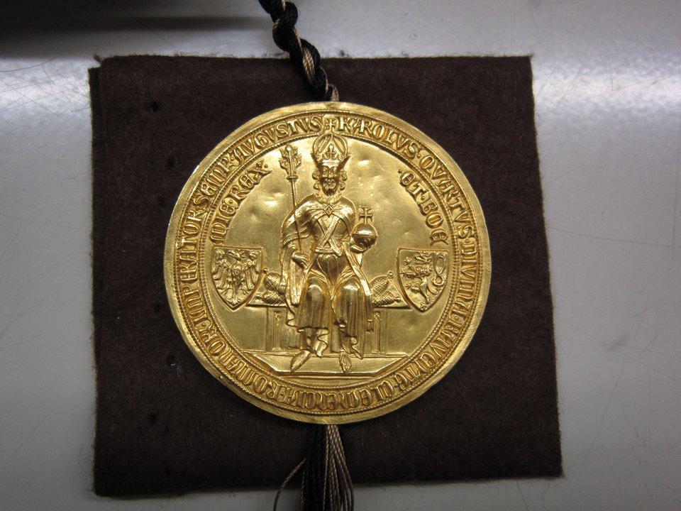Pieczęć przy trewirskiej kopii Złotej Bulli