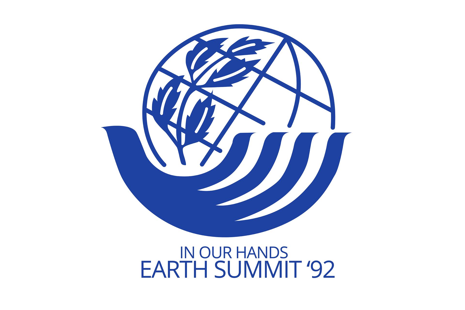 Fotografia przedstawiająca logo Szczytu Ziemi wRio de Janeiro z1992 roku