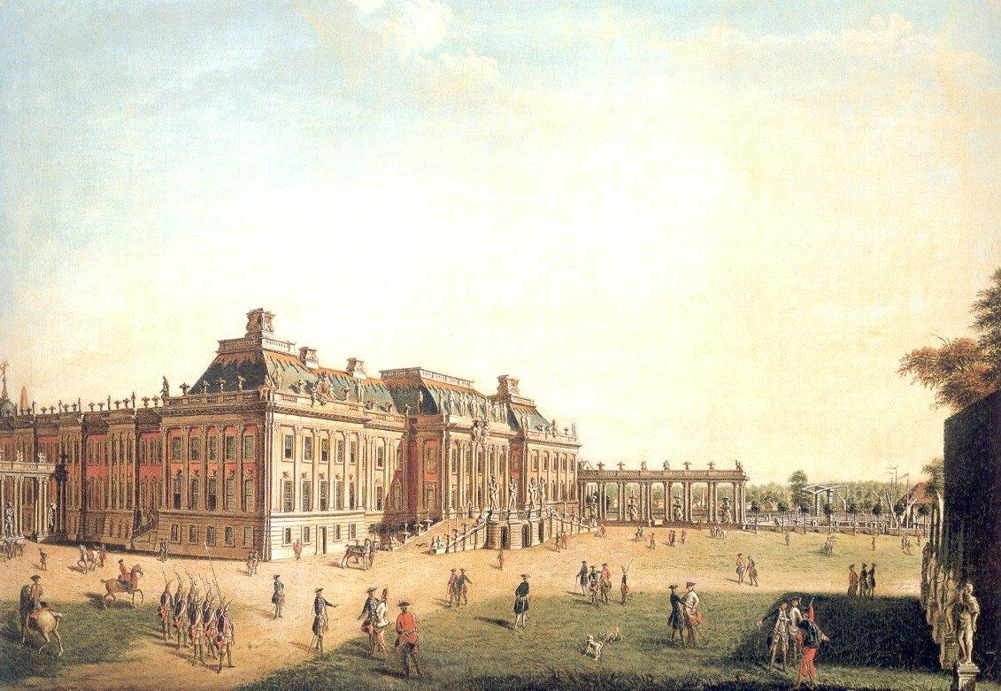 Pałac miejski wPoczdamie Pałac miejski wPoczdamie Źródło: Johann Friedrich Meyer, 1773, olej na płótnie, domena publiczna.
