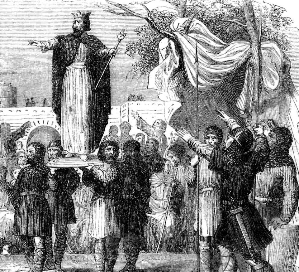 Wybór króla Germanów, XIX-wieczna interpretacja Źródło: Wybór króla Germanów, XIX-wieczna interpretacja, licencja: CC 0.