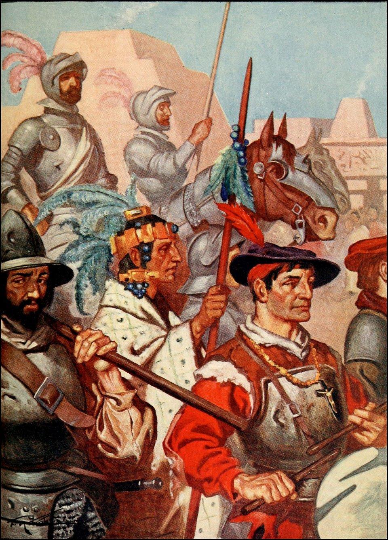 obraz przedstawia konkwistadorów