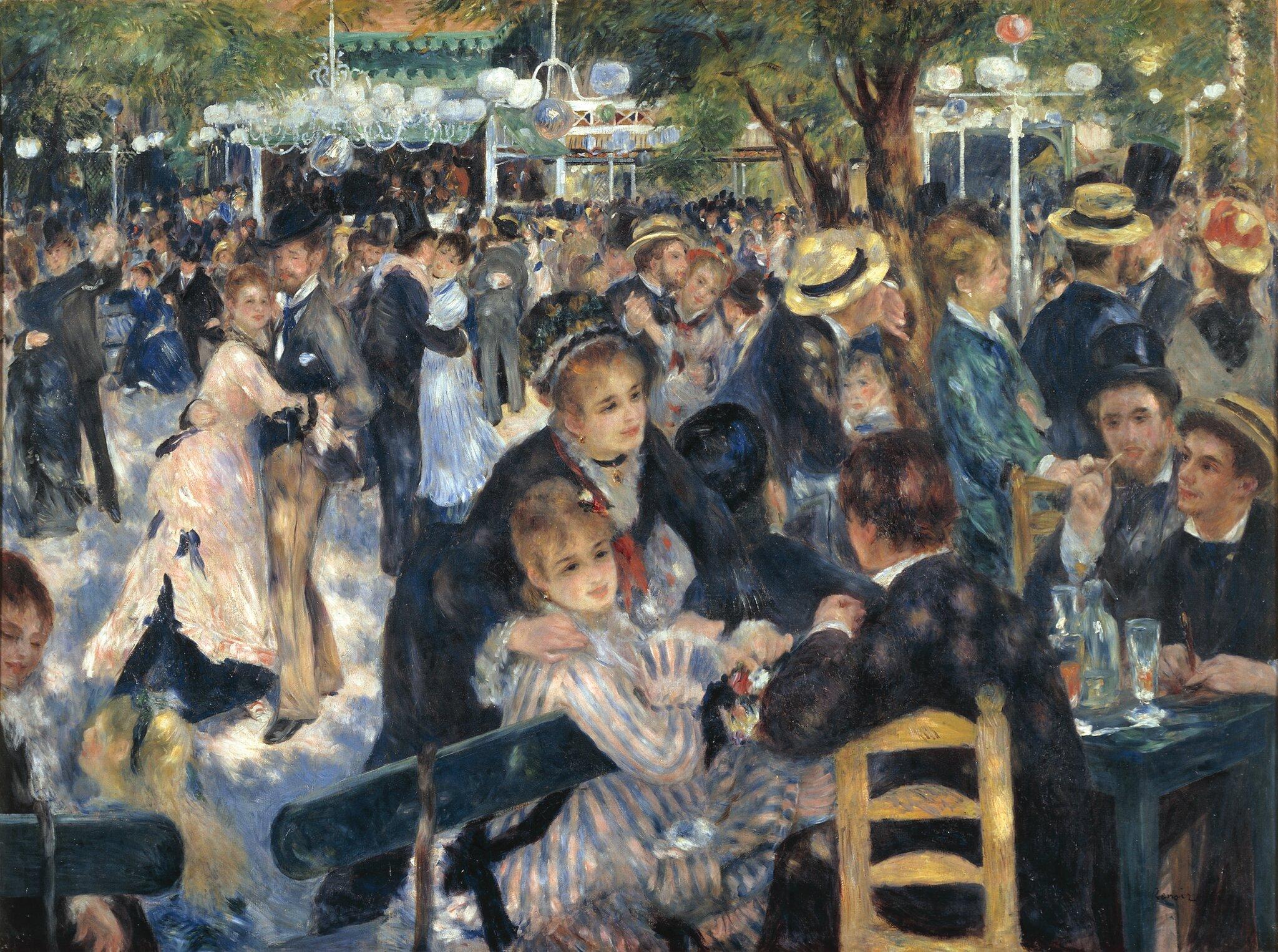Okładka - izmy przełomu wieków Źródło: Auguste Renoir, 1876, olej na płótnie, domena publiczna.