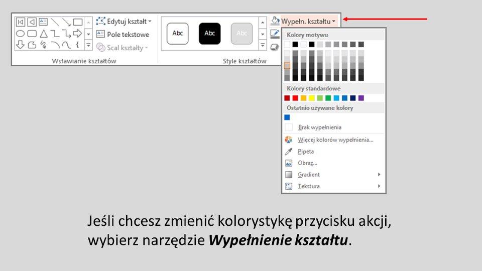 Slajd 2 galerii: Formatowanie przycisków akcji wprogramie MS PowerPoint