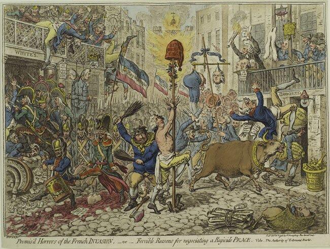 """Obraz przedstawia ironiczne wyobrażenie """"eksportu rewolucji"""""""