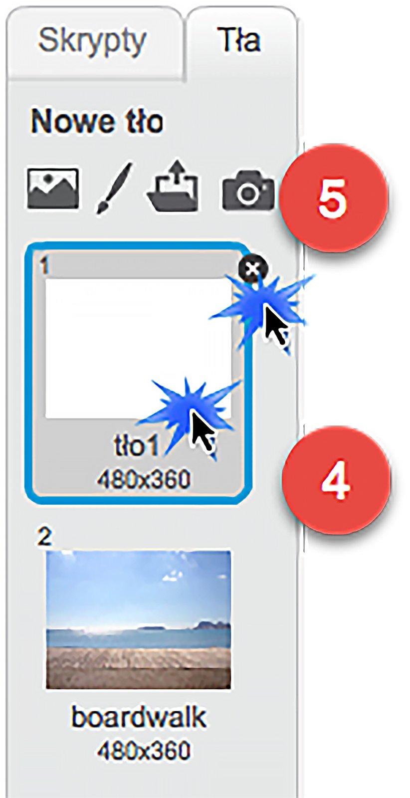 Krok 3 instrukcji: Jak zmienić obraz tła na jeden zobrazków dostępnych wgalerii