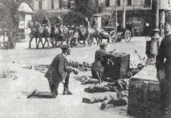 Walki podczas przewrotu majowego Walki podczas przewrotu majowego Źródło: domena publiczna.