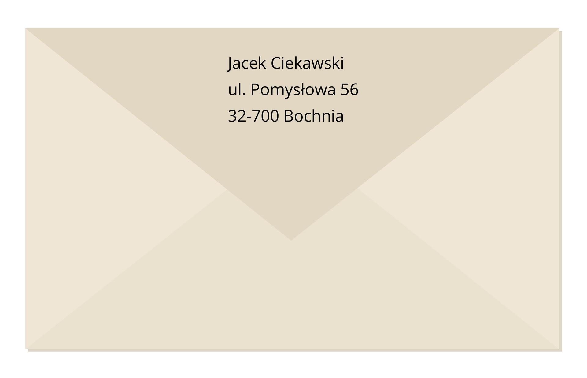 adres nadawcy przod Źródło: Contentplus.pl sp. zo.o., licencja: CC BY 3.0.