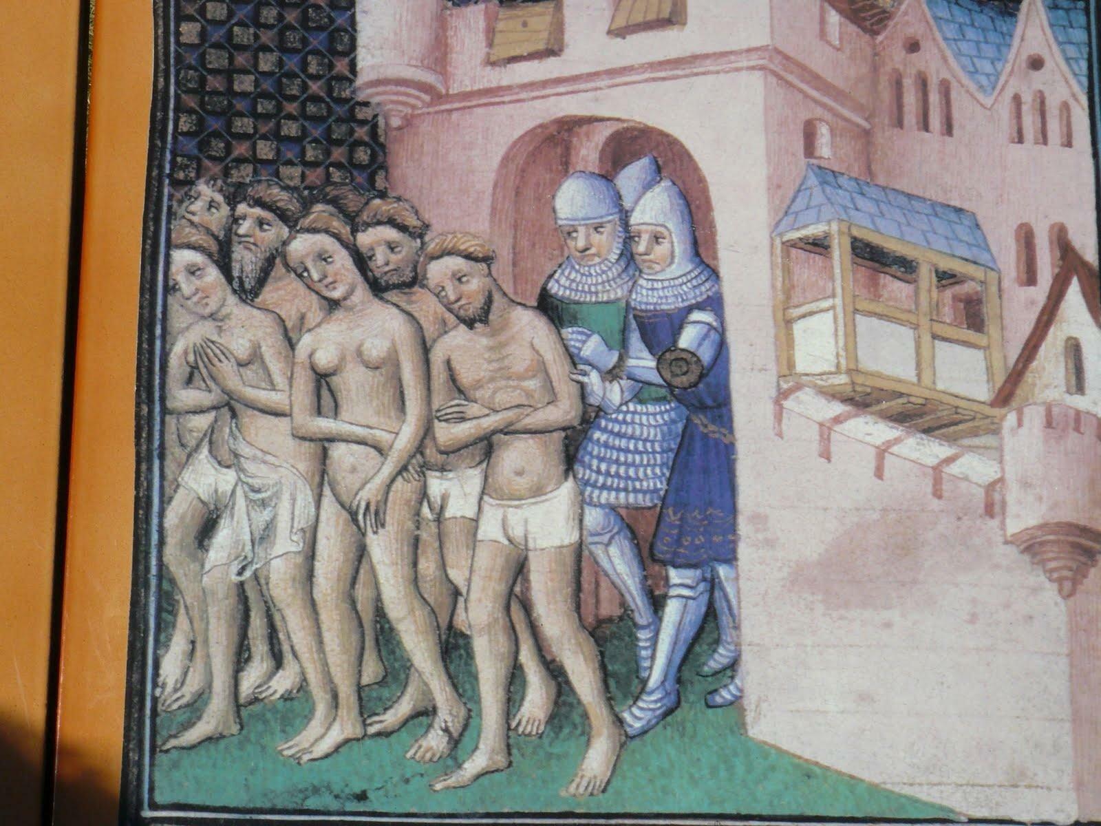 Wygnanie mieszkańców zCarcassone w1209 Źródło: Wygnanie mieszkańców zCarcassone w1209, 1415, miniatura, domena publiczna.