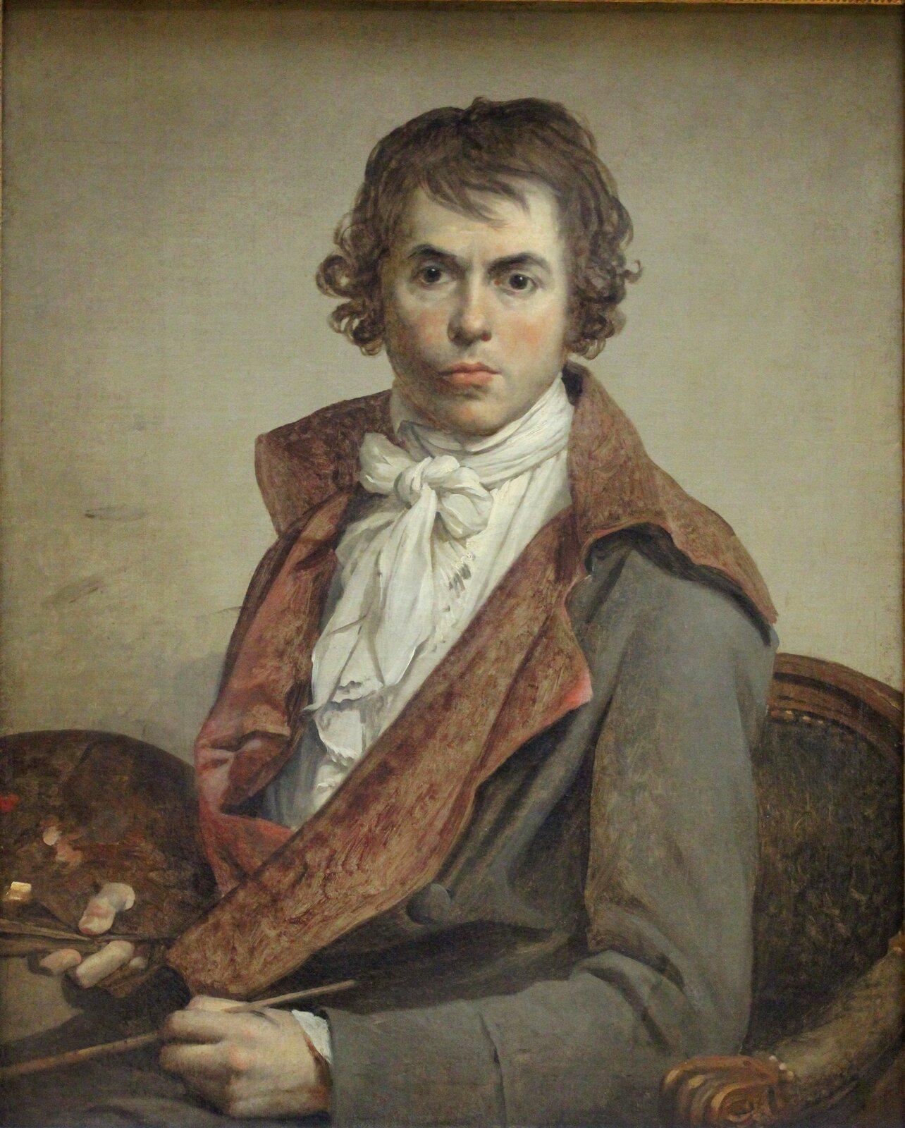Autoportret Źródło: Jacques-Louis David, Autoportret, 1794, olej na płótnie, Luwr, domena publiczna.