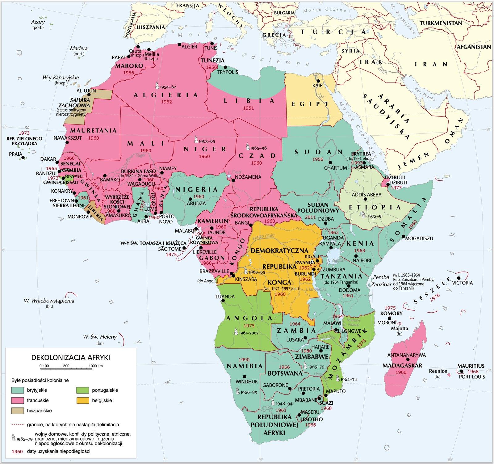 Dekolonizacja Afryki Źródło: Krystian Chariza izespół, Dekolonizacja Afryki, licencja: CC BY 3.0.