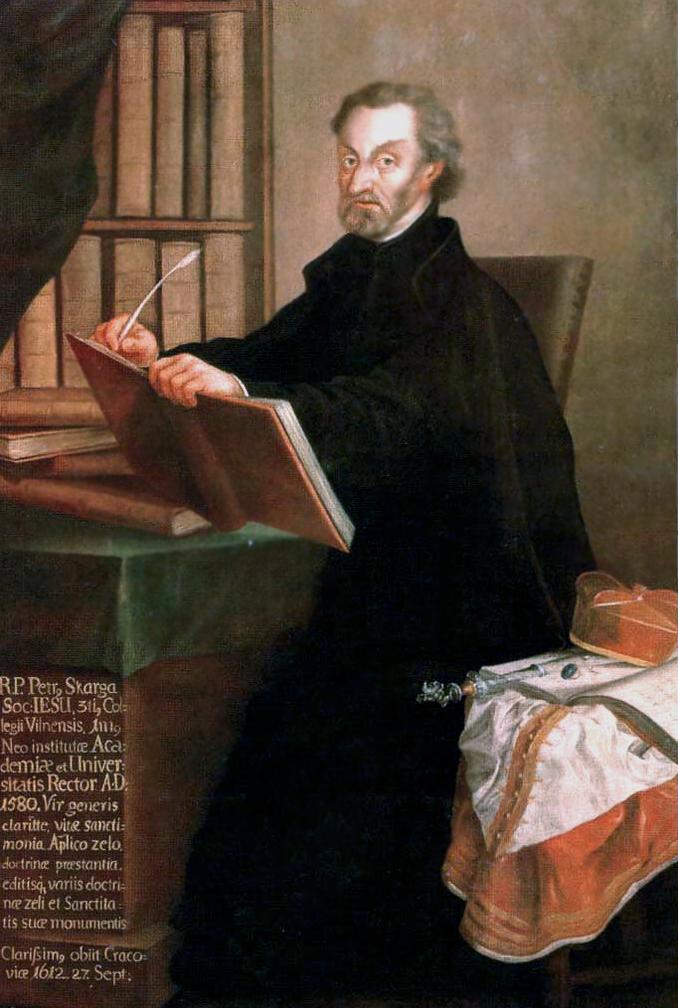 TakPiotra Skargę wyobrażał sobie nieznany XVII-wiecznyartysta. TakPiotra Skargę wyobrażał sobie nieznany XVII-wiecznyartysta. Źródło: domena publiczna.