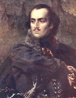 Kazimierz Pułaski PortretKazimierza Pułaskiego namalowany niemal 150 lat później (ok. 1925) przez Kazimierza Stykę. Źródło: Jan Styka, Kazimierz Pułaski, przed 1925, domena publiczna.