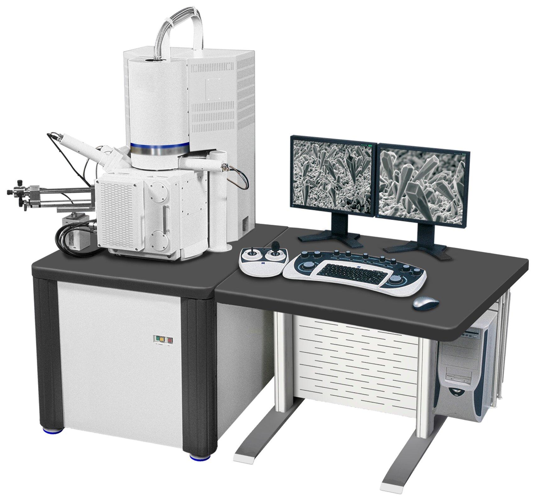 Zdjęcie przedstawia skaningowy mikroskop elektronowy (SEM)