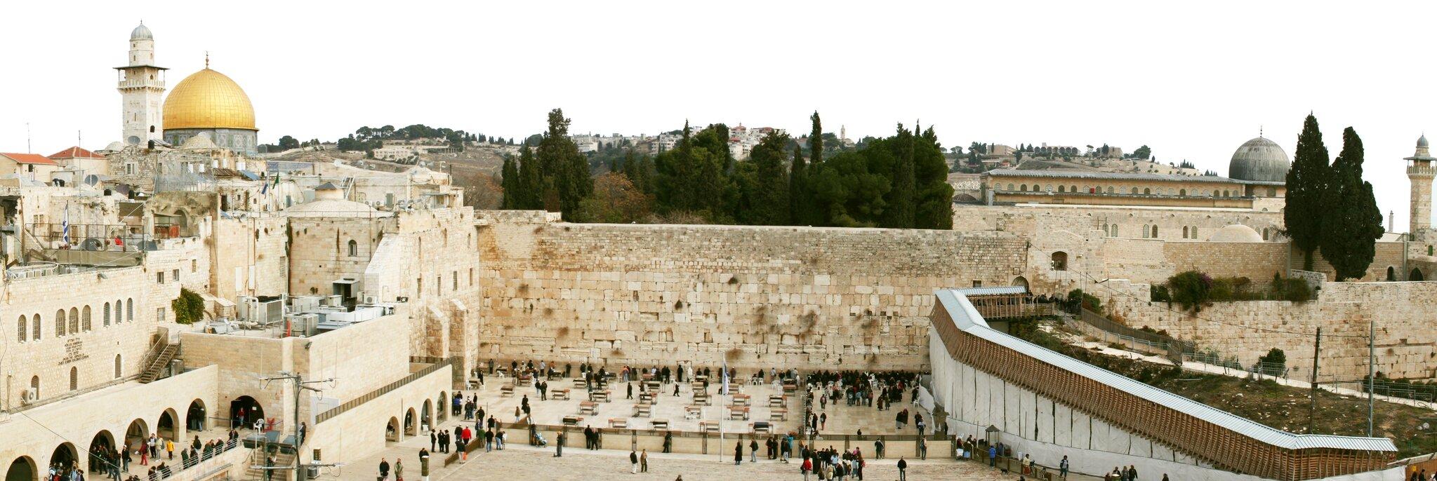 Ściana Płaczu wJerozolimie. Ściana Płaczu wJerozolimie. Źródło: Sheepdog85, Wikimedia Commons, licencja: CC BY-SA 3.0.