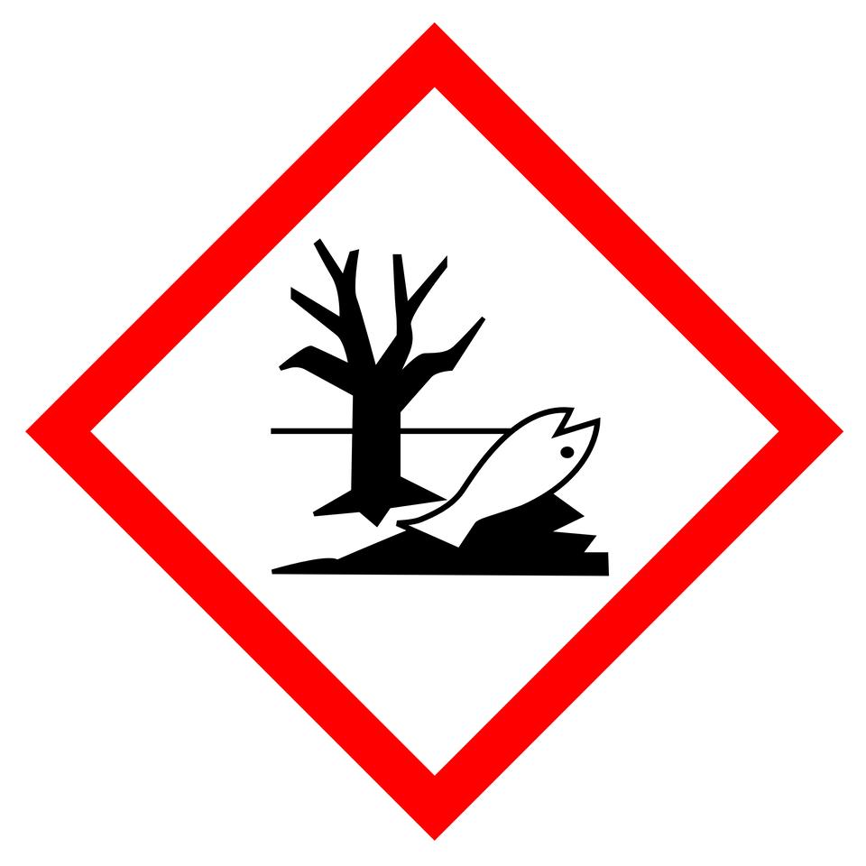 Piktogramy przedstawiające wpływ oznaczonej nimi substancji na środowisko.