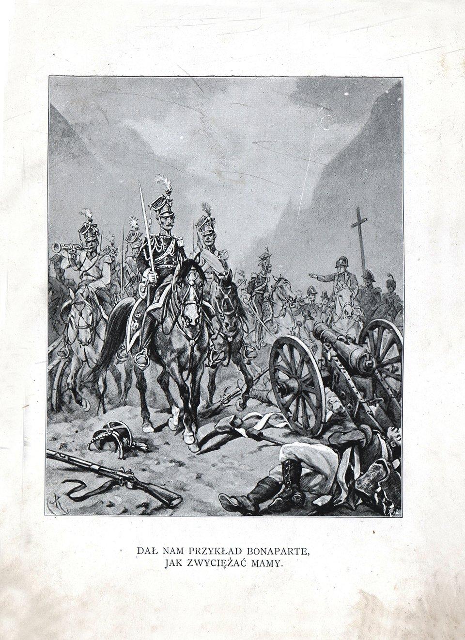 Pieśń Legionów Źródło: Juliusz Kossak, Pieśń Legionów, domena publiczna.