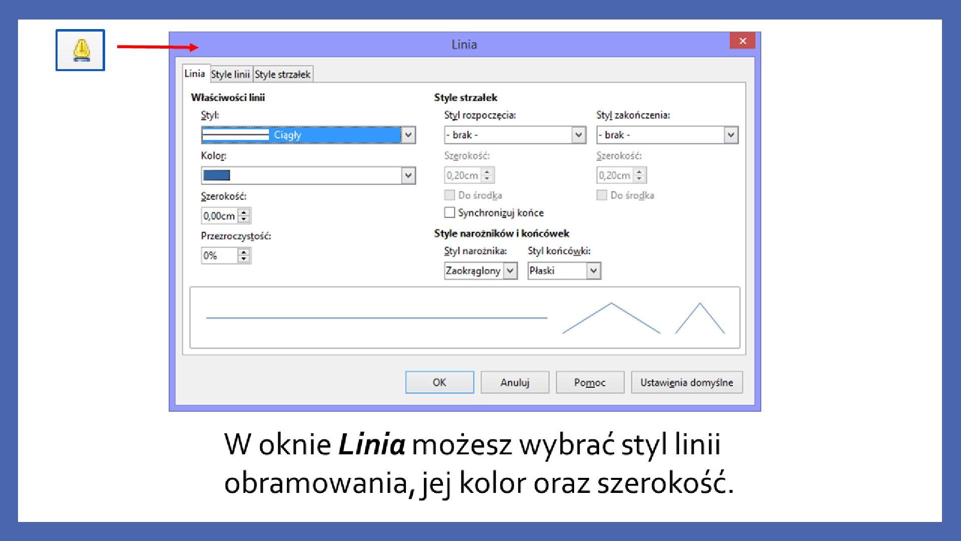 Slajd 4 galerii zrzutów slajdów: Modyfikacja obiektów wprogramie LibreOffice Impress