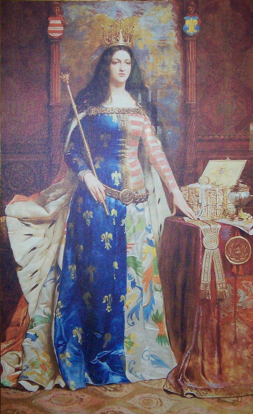 Obraz Antoniego Piotrowskiegoprzedstawia JadwigęAndegaweńską