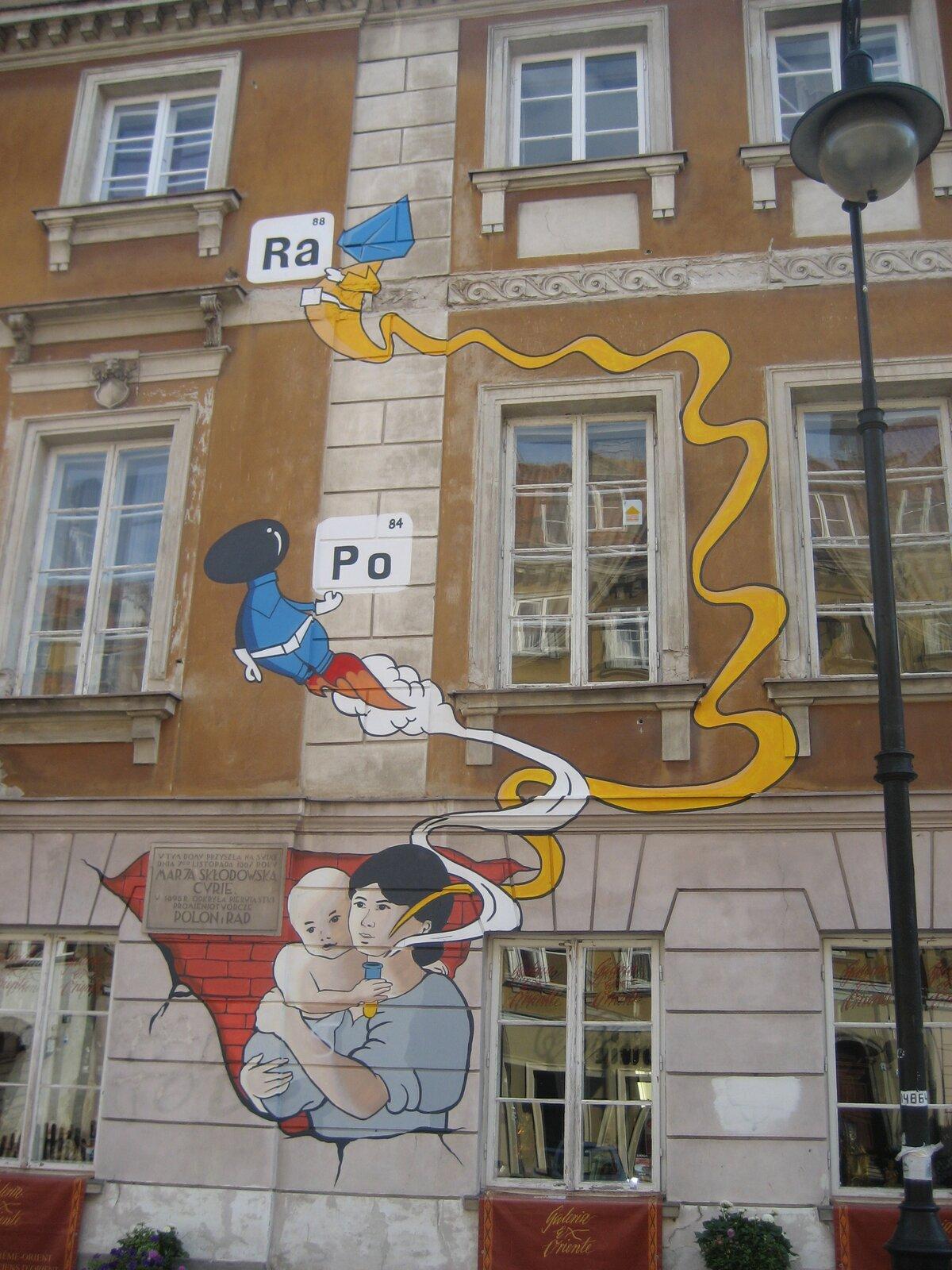 Mural na ul. Freta wWarszawie