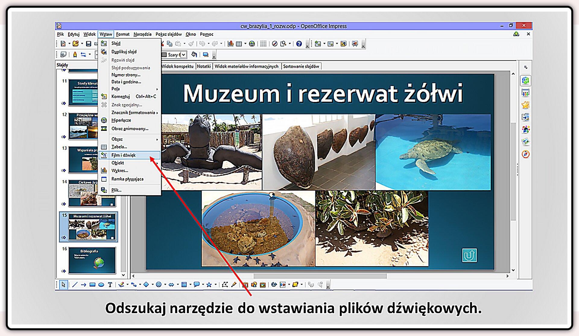 Slajd 4 galerii slajdów pokazu: Nagrywanie komentarza do prezentacji wprogramie LibreOffice Impress