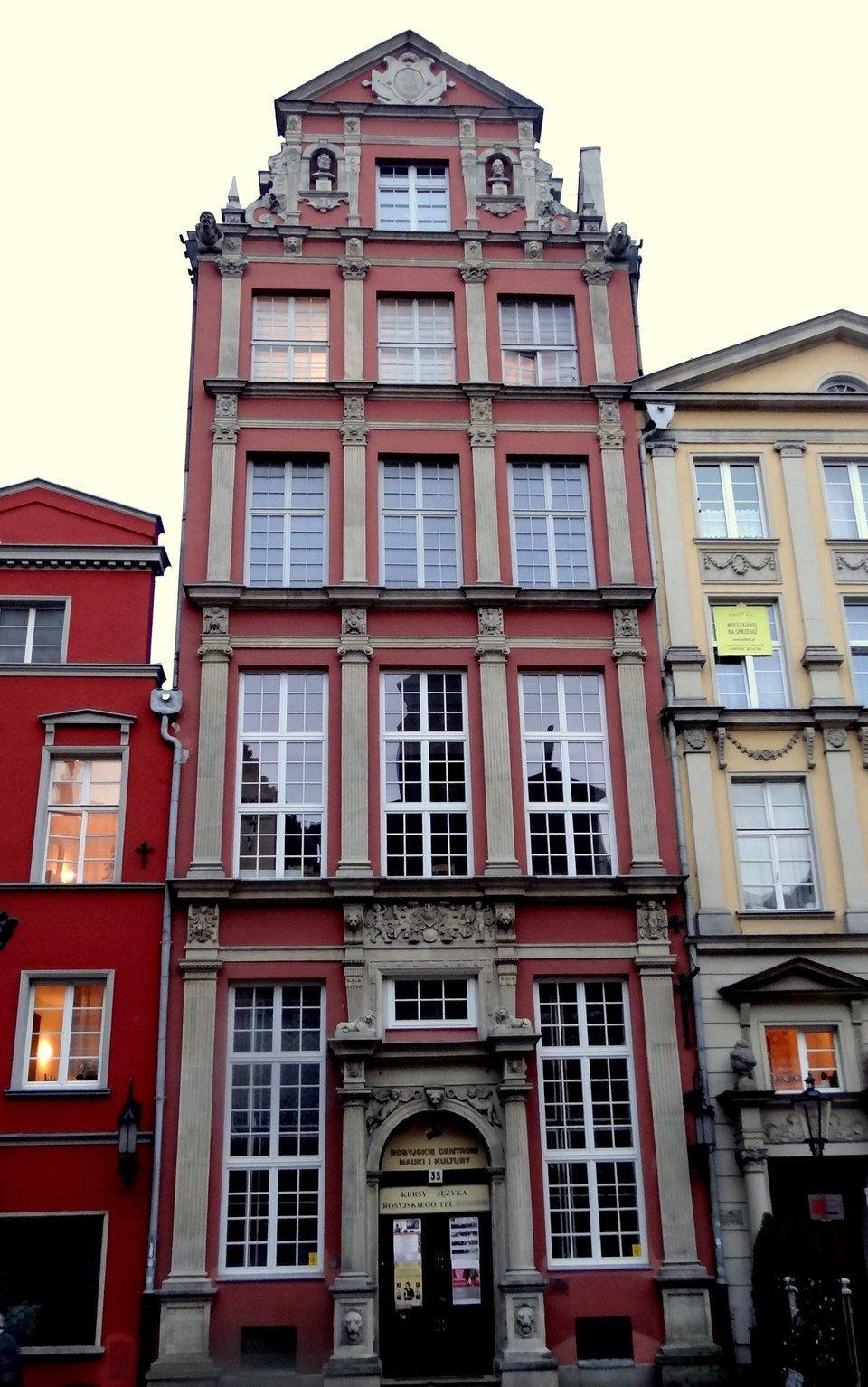Gdańsk – kamienica Lwi Zamek Gdańsk – kamienica Lwi Zamek Źródło: Rafał Peplinski, Wikimedia Commons, licencja: CC BY 3.0.