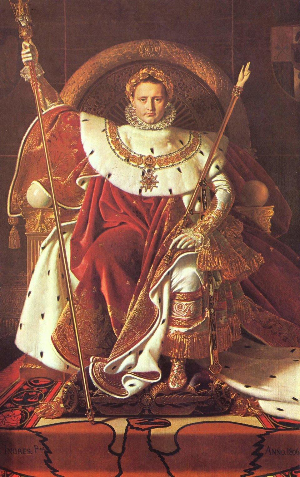 Napoleon na tronie