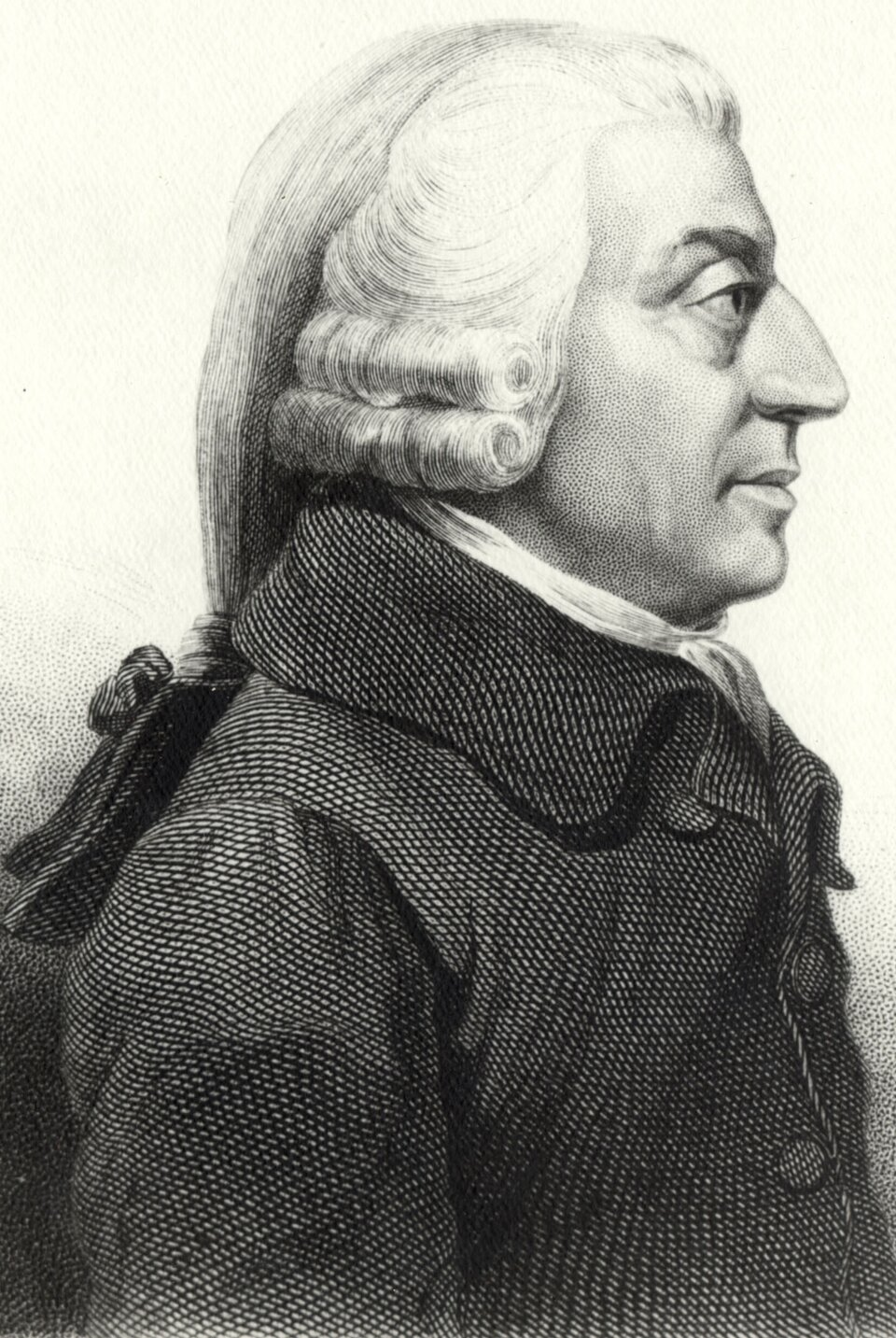 Adam Smith Źródło: James Tassie, Adam Smith, 1787, domena publiczna.