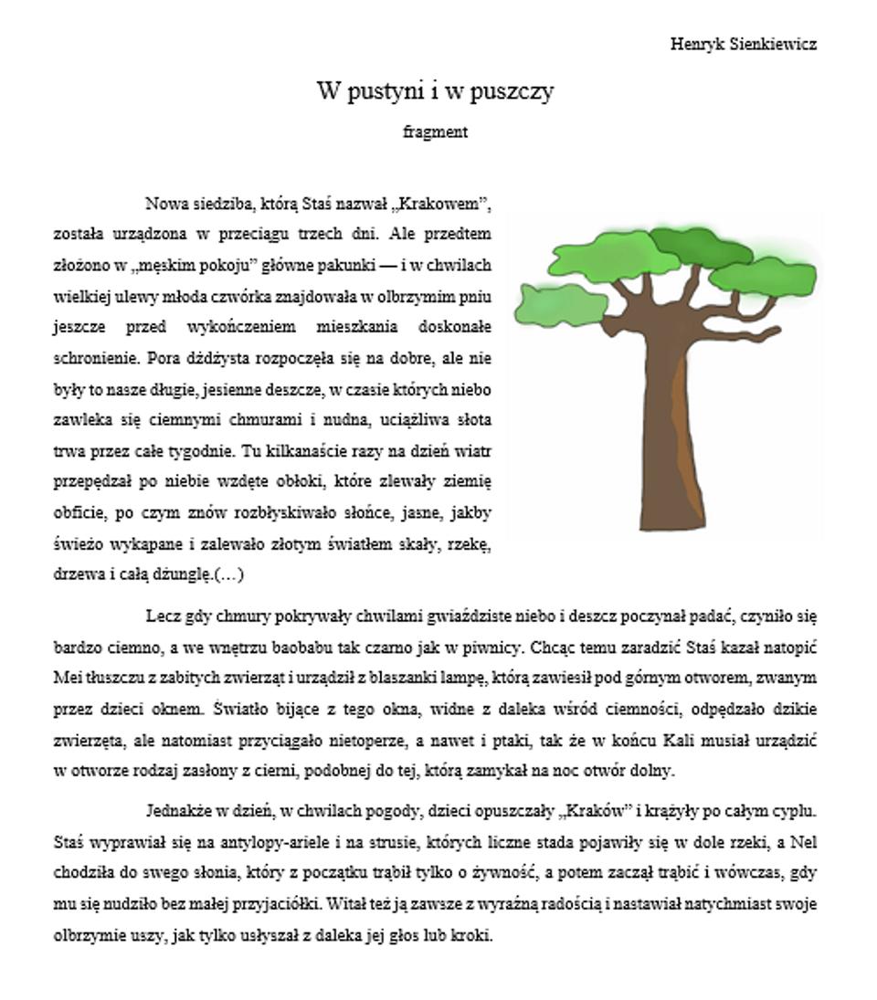 Zrzut dokumentu tekstowego zwstawioną grafiką