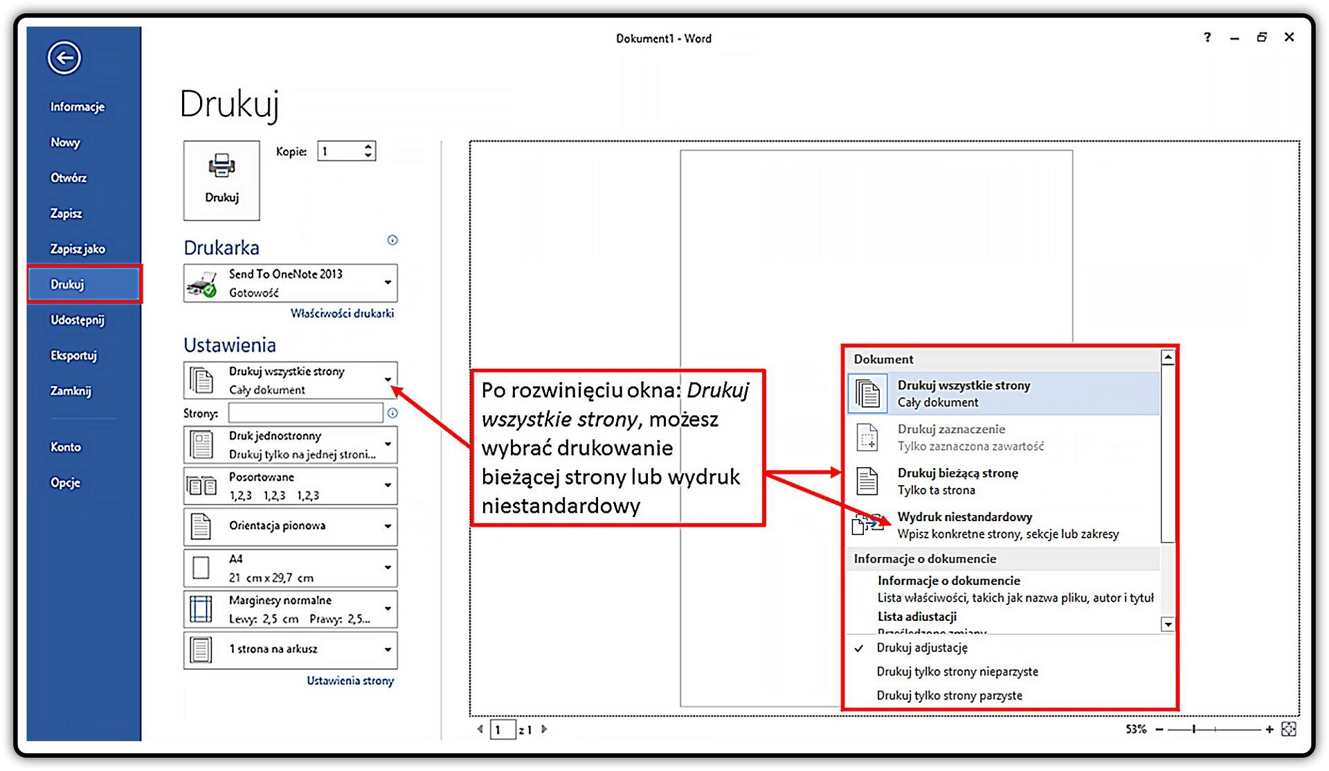 Slajd 3 galerii: Wjaki sposób przygotować wydruk dokumentu wprogramie MS Word