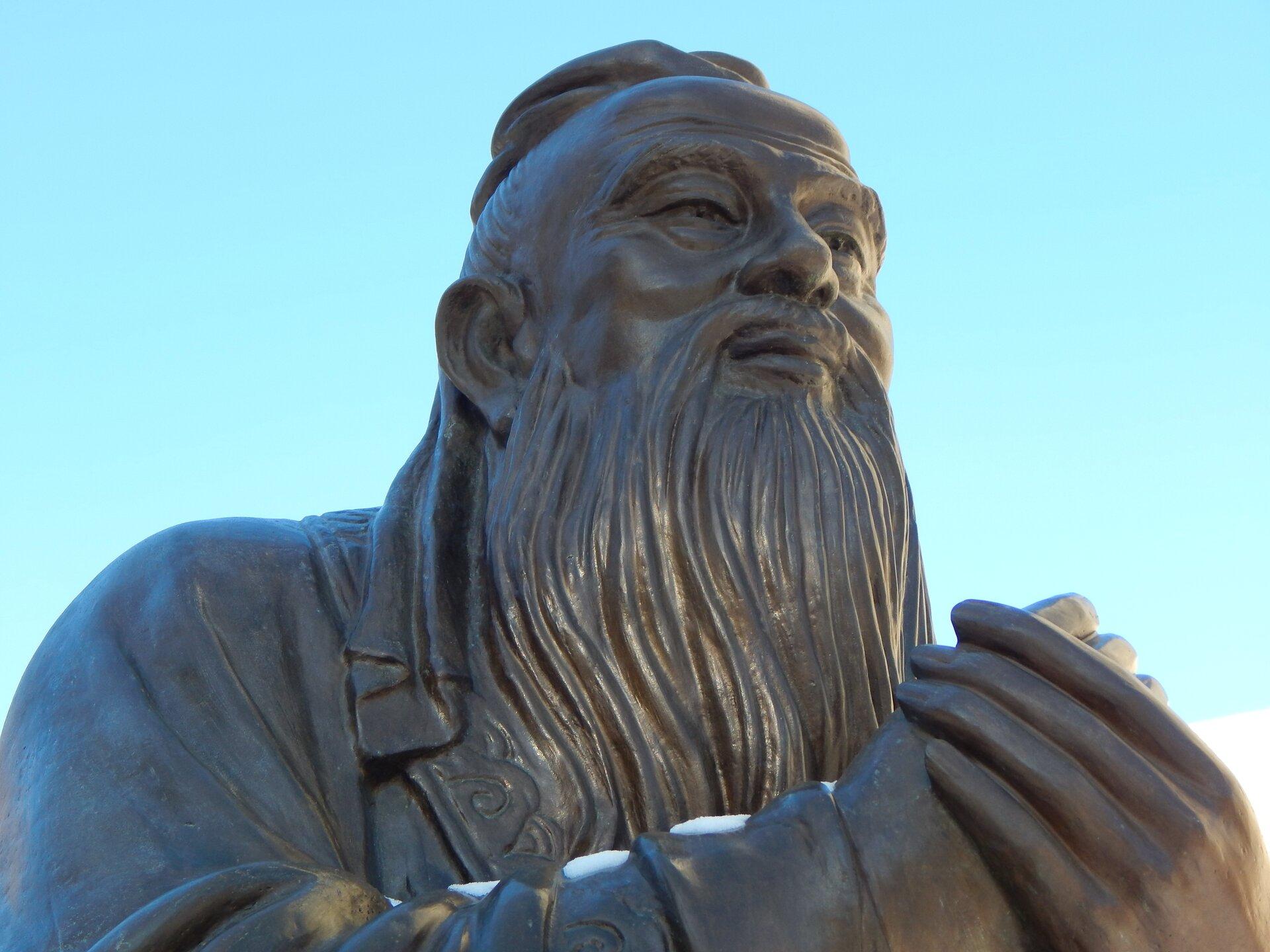 Konfucjusz, pomnik Źródło: pixabay, Konfucjusz, pomnik, licencja: CC 0.