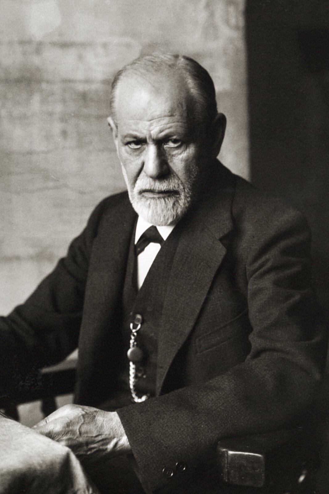 Sigmund Freud Źródło: Ferdinand Schmutzer, Sigmund Freud, 1926, domena publiczna.