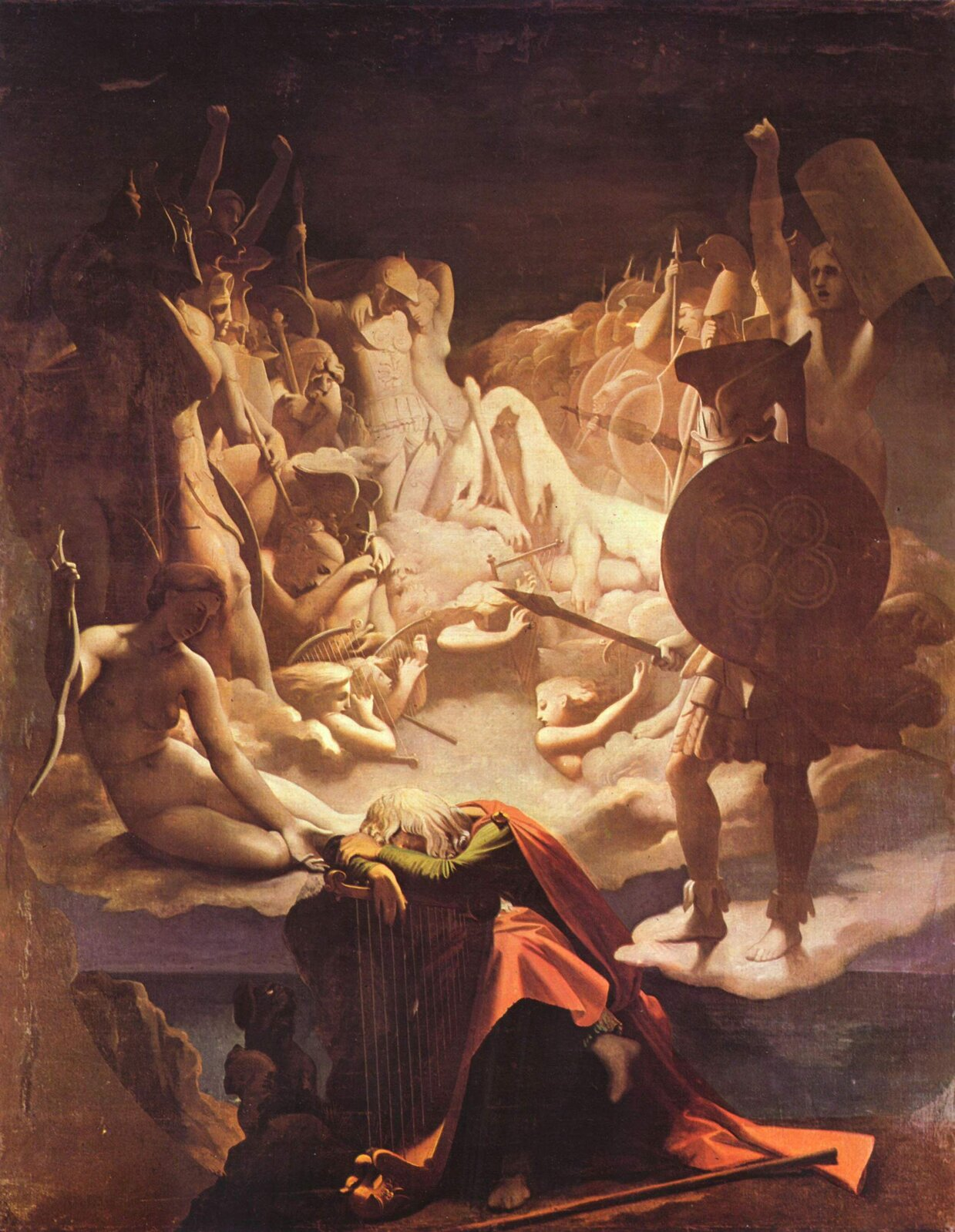 Sen Osjana Źródło: Jean Auguste Ingres, Sen Osjana, 1813, domena publiczna.