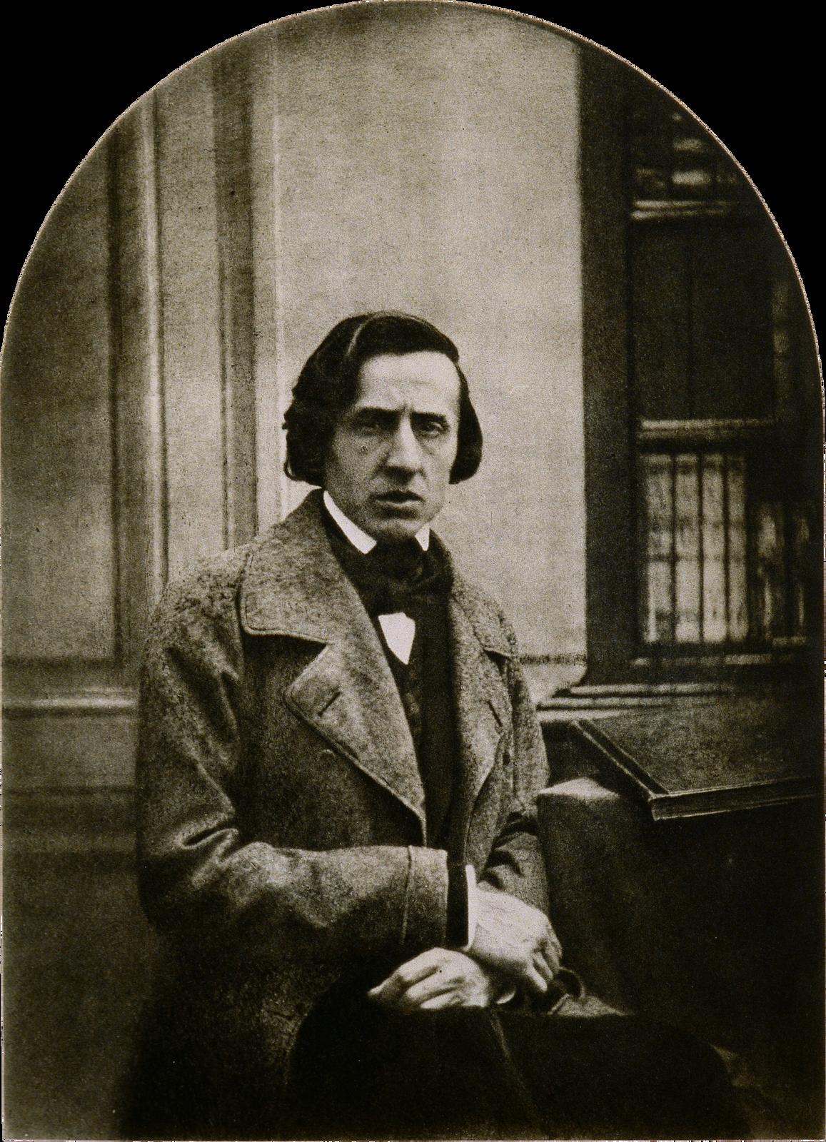 Portret Fryderyka Chopina Louis-Auguste Bisson(1814–1876; czyt.: lui-august bison) – francuski fotograf Źródło: Louis-Auguste Bisson, Portret Fryderyka Chopina, 1847, .zaginiony, reprint z1937 roku, dagerotyp , Biblioteka Polska, Paryż, domena publiczna.