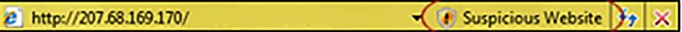 Zrzut żółtego paska adresowego