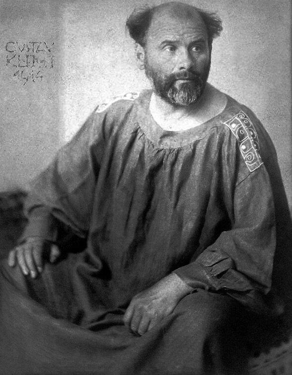 Gustav Klimt, fotografia portretowa Josef Anton Trčka Źródło: Hohum, Gustav Klimt, fotografia portretowa Josef Anton Trčka, licencja: CC 0.