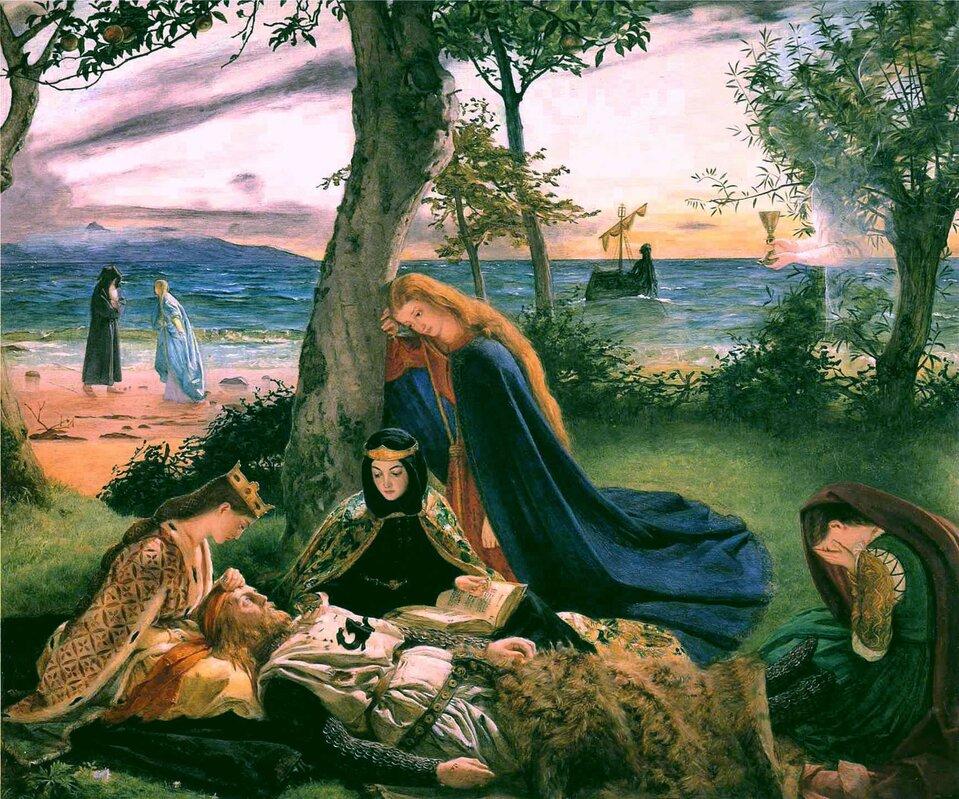 Śmierć króla Artura Źródło: James Archer, Śmierć króla Artura, ok. 1860, olej na płótnie, domena publiczna.