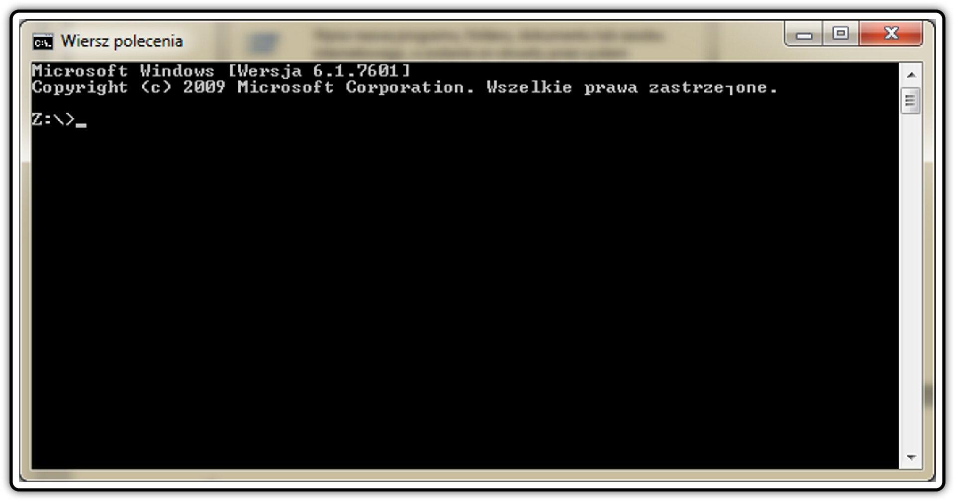 Zrzut okna: Wiersz polecenia wsystemie operacyjnym Windows
