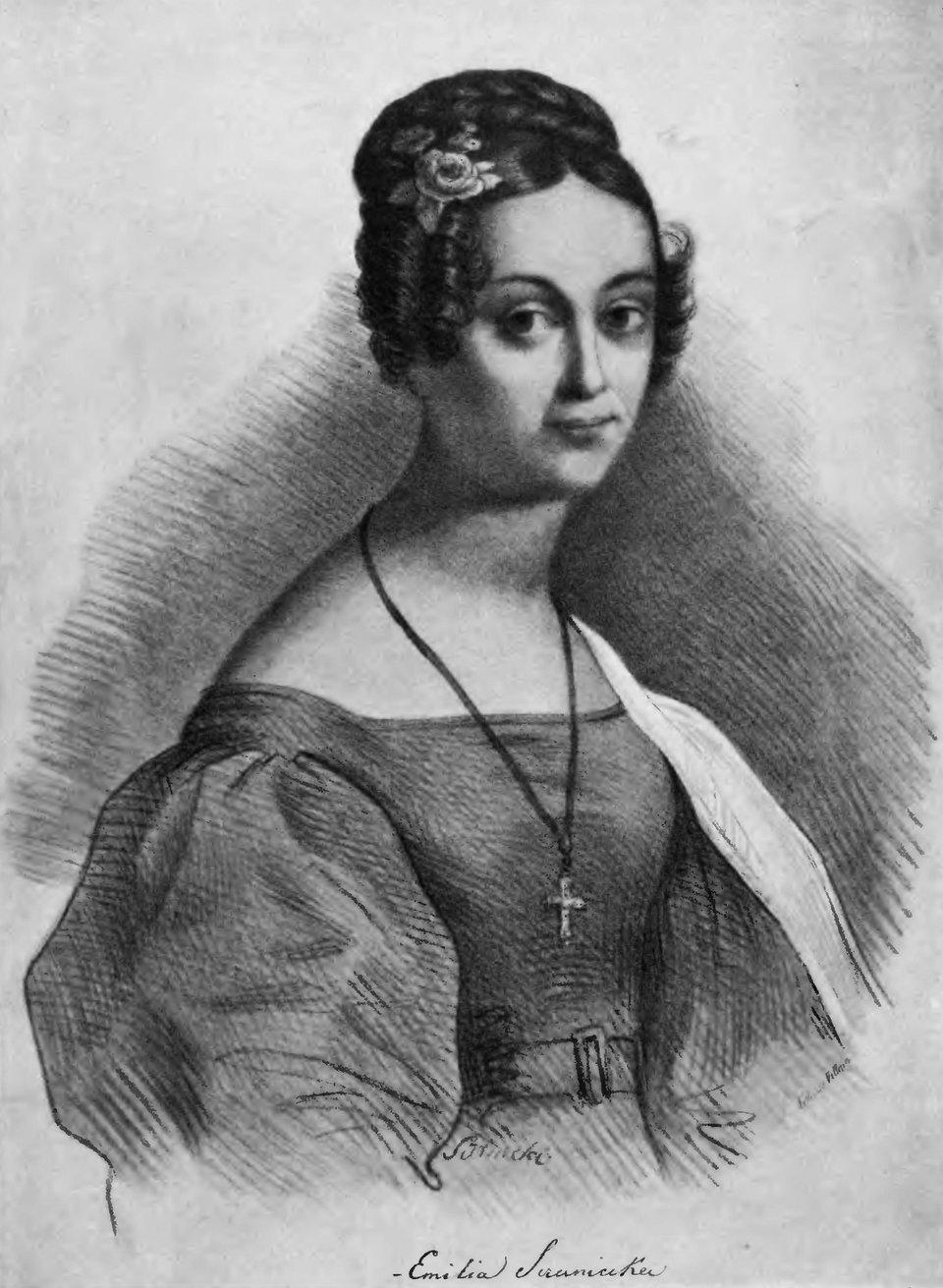 Emilia Sczaniecka Źródło: François Le Villain, Emilia Sczaniecka, XIX wiek, domena publiczna.