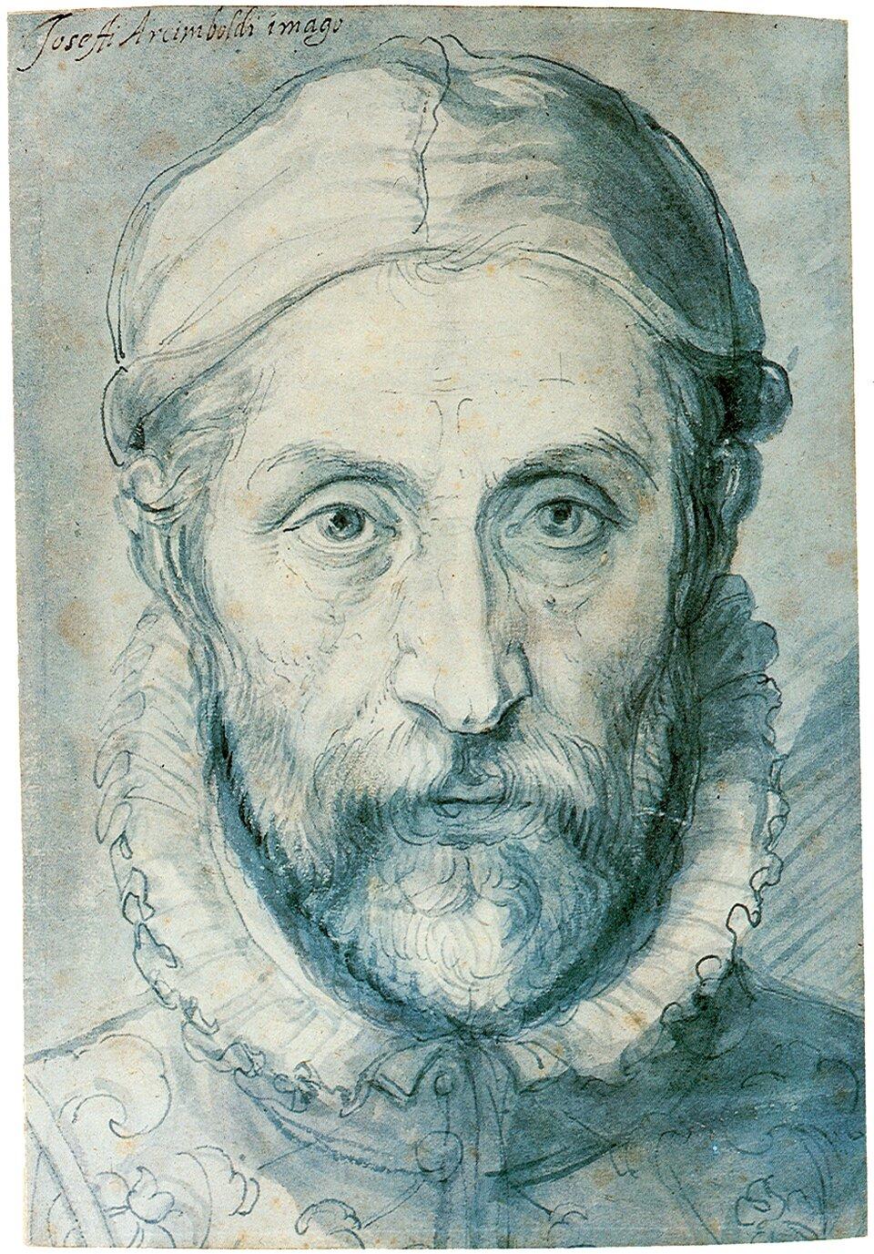 Autoportret Źródło: Giuseppe Arcimboldo, Autoportret, XVI wiek, Galeria Narodowa wPradze, domena publiczna.