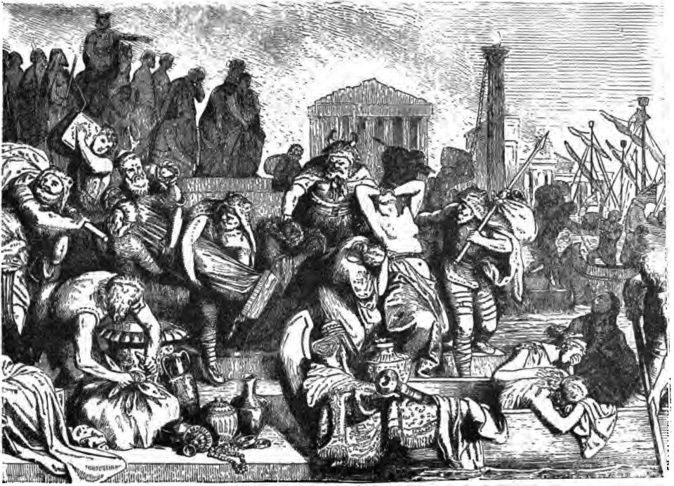 Łupiestwa Wandalów okiem XIX-wiecznego Europejczyka