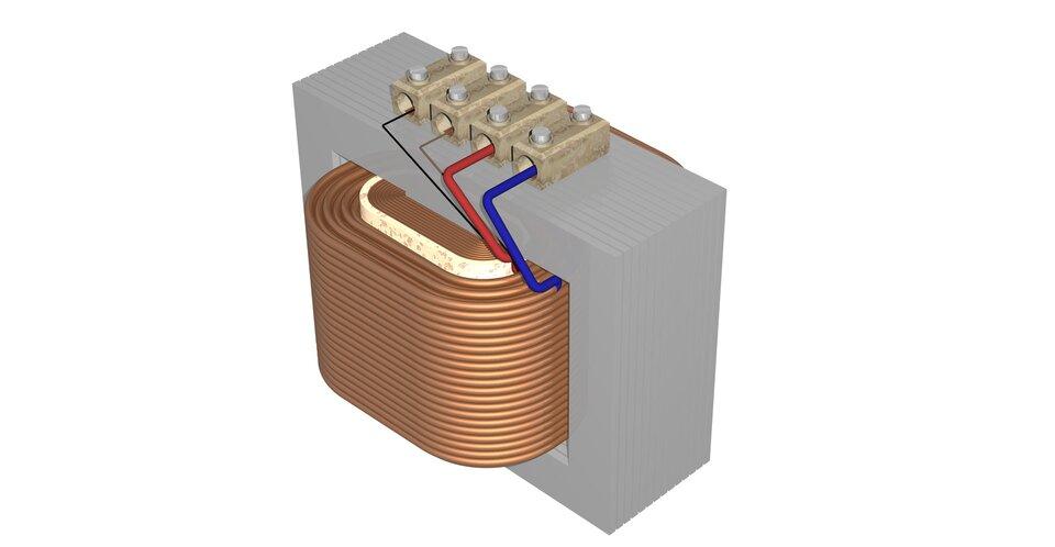 Zdjęcie transformatora lub jego modelu