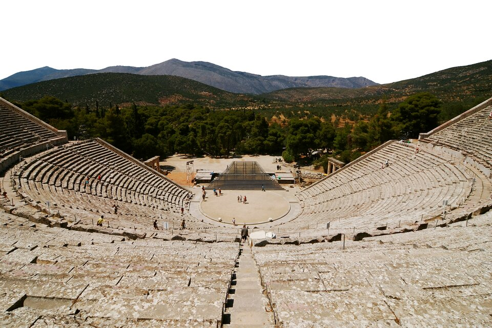 Teatr wEpidauros wGrecji Teatr wEpidauros wGrecji Źródło: Rosino, Wikimedia Commons, licencja: CC BY-SA 2.0.