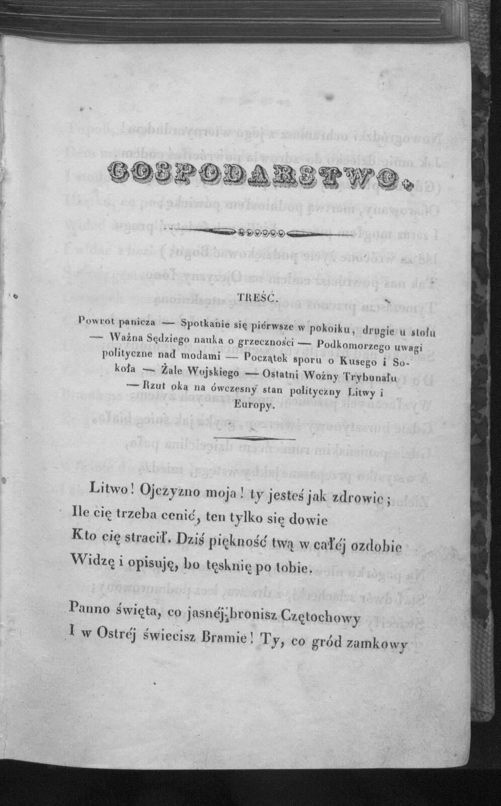 Pan Tadeusz–pierwodruk wydania z1834 roku Pan Tadeusz–pierwodruk wydania z1834 roku Źródło: domena publiczna.