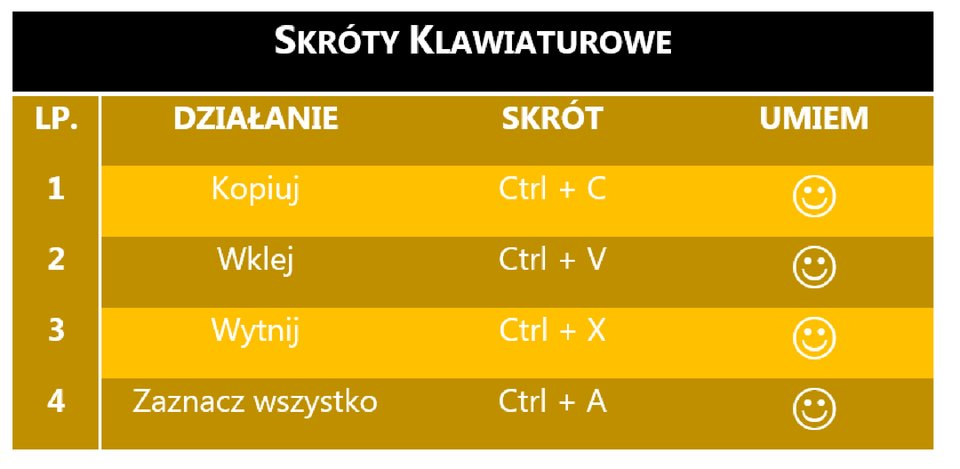 Zrzut tabeli 5 zzastosowanym stylem