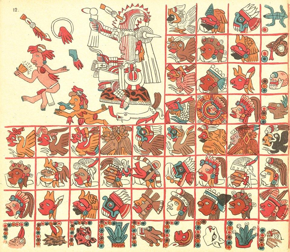 zdjęcie przedstawia kartę zkalendarza Azteków