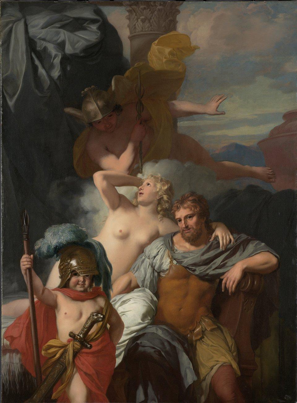 Odyseusz iKalipso Źródło: Gérard de Lairesse, Odyseusz iKalipso, 1678–1672, Rijksmuseum, Amsterdam, domena publiczna.