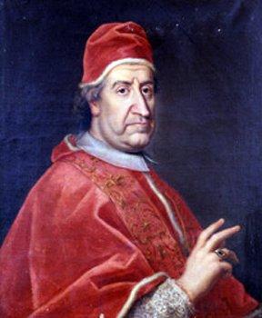 Klemens XI, papież wl. 1700-1721 Klemens XI, papież wl. 1700-1721 Źródło: Olej, domena publiczna.