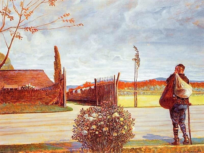 Powrót syna marnotrawnego Źródło: Jacek Malczewski, Powrót syna marnotrawnego, 1923, olej na tekturze, własność prywatna.