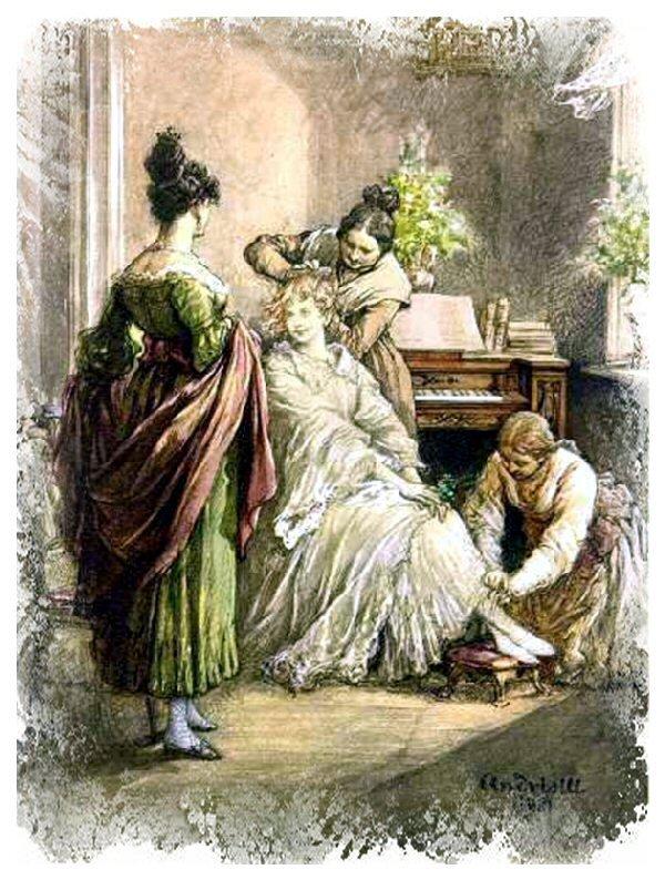 Zosia Ilustracja doPana TadeuszaAdama Mickiewicza, Księga 5. Źródło: Michał Elwiro Andriolli, Zosia, 1881, domena publiczna.