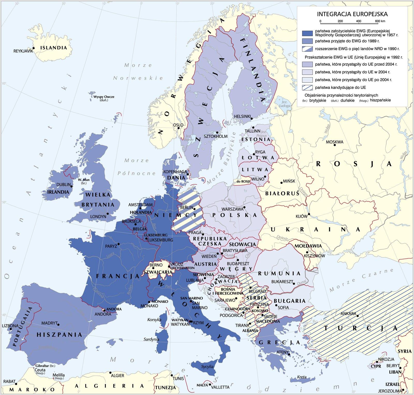 mapaIntegracja Europejska